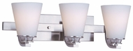 Maxim 9013SWSN Conical Medium 3-lamp Modern Vanity Lighting
