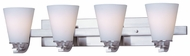 Maxim 9014SWSN Conical 4-light Large Satin Nickel Modern Bathroom Vanity