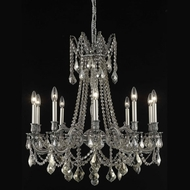 Elegant 9210D28PW-GT-RC Rosalia 10-light 28  Antique Pewter Golden Teak Crystal Chandelier with Shade