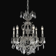 Elegant 9506D20PW-RC Marseille 20  6-lamp Pewter Antique Chandelier with Clear Crystal