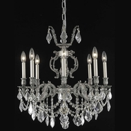 Elegant 9508D24PW-RC Marseille Medium Pewter Crystal Classic Chandelier