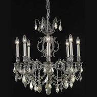 Elegant 9508D24PW-GT-RC Marseille 24  Pewter Medium Golden Teak Crystal Ceiling Chandelier