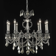 Elegant 9510D28PW-GT-RC Marseille Golden Teak Crystal 28  Medium Chandelier Fixture