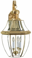 Quoizel NY8339B Newbury 29 inches tall outdoor wall lamp in polished brass