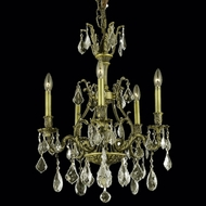 Elegant 9605D21AB-GS-RC Monarch 5-lamp Golden Shadow Crystal Chandelier in Antique Bronze