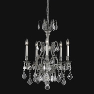 Elegant 9605D21PW-RC Monarch Pewter 5-light Small Chandelier Lighting