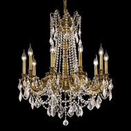 Elegant 9210D28FG-RC Rosalia 10-lamp 33 Large Chandelier in French Gold - Clear Crystal Accents