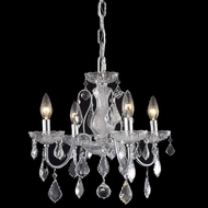 Elegant 2015D17C-RC St. Francis Classic 4-lamp Chrome Chandelier with Crystal Accents