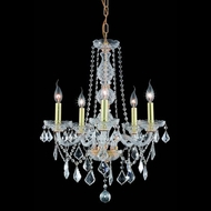 Elegant 7855D21G-RC Verona 21  Gold 5 Light Chandelier with Clear Crystal
