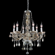 Elegant 7856D24GT-GT-RC Verona 6-lamp 24  Golden Teak Crystal Chandelier