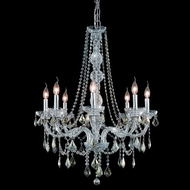 Elegant 7858D28C-GT-RC Verona 8-light Chrome Golden Teak Crystal Chandelier Lamp