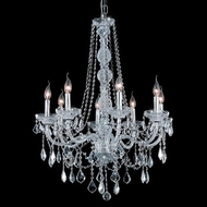 Elegant 7858D28C-RC Verona Classic 8-lamp Chrome Chandelier Light with Clear Crystals