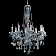 Elegant 7858D28SS-SS-RC Verona 28  Large Silver Shade Finish and Crystal Ceiling Chandelier