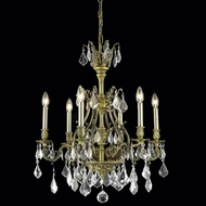 Elegant 9606D24AB-RC Monarch 24  6-light Antique Bronze Crystal Chandelier Light
