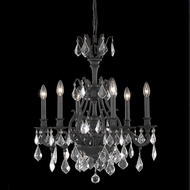 Elegant 9606D24DB-RC Monarch 6-lamp 24  Dark Bronze Chandelier with Clear Crystal