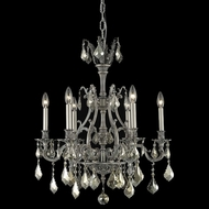 Elegant 9606D24PW-GT-RC Monarch 24  6-light Golden Teak Crystal Pewter Chandelier Light