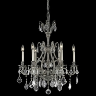 Elegant 9606D24PW-RC Monarch Clear Crystal 6-lamp 24  Pewter Chandelier Lighting