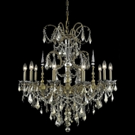 Elegant 9710D30FG-GT-RC Athena 30  Large Golden Teak Crystal Chandelier Lighting