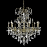 Elegant 9710D30FG-RC Athena Large 30  10-light French Chandelier in Gold with Clear Crystals