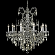 Elegant 9710D30PW-RC Athena Large 10-light Pewter Chandelier Lamp