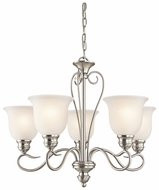 Kichler 42906NI Tanglewood 5 Light Chandelier in Brushed Nickel