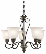 Kichler 42906OZ Tanglewood Medium 5-light Olde Bronze Chandelier Lamp