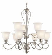 Kichler 42907NI Tanglewood Large 9-light Brushed Nickel Ceiling Chandelier