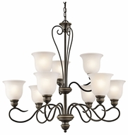 Kichler 42907OZ Tanglewood 9-lamp Olde Bronze Chandelier Lighting