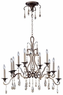 Maxim 14307HR Chic Large 10-light Traditional Crystal Chandelier