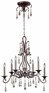 Maxim 14308HR Chic Small 6-lamp Classic Crystal Chandelier Light