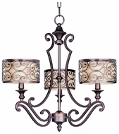 Maxim 21153WHUB Mondrian Mini 3 light Chandelier with Shades