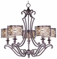 Maxim 21155WHUB Mondrian Medium 5 Light Chandelier Lamp