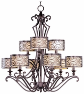 Maxim 21156WHUB Mondrian Large 9-light Traditional Chandelier Lighting