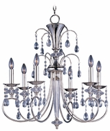 Maxim 24306CLPN Montgomery Medium 6-light Crystal Chandelier Lighting