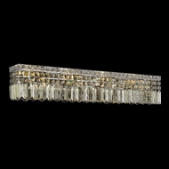 Elegant 2032W30C-GT-RC Maxim 7-light Golden Teak Crystal Bath Light Fixture