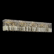 Elegant 2032W36C-GT-RC Maxim 8-lamp Large Golden Teak Crystal Vanity Bathroom Light