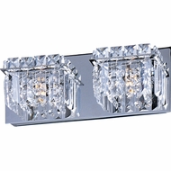 ET2 E2325220PC Bangle Modern 2-light Crystal Bathroom Light Fixture