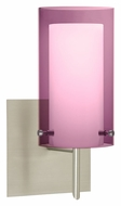 Besa 1SW-A44007 Pahu 4 Contemporary 10 Inch Tall Transparent Amethyst Lighting Sconce