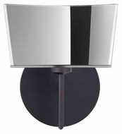 Besa 1SW-6773MR Groove Bronze Finish Modern Wall Light Sconce - Mirror Glass