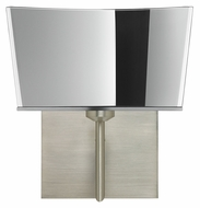 Besa 1SW-6773MR Groove 9 Inch Tall Modern Style Satin Nickel Wall Lighting