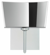 Besa 1SW-6773MR Groove Mirror Glass Polished Nickel Finish Wall Sconce Light Fixture