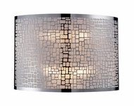ELK 310402 Medina Contemporary 2-light Pocket Sconce Wall Lighting in Polished Stainless Steel