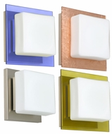 Besa 1WS7735 Alex Contemporary Wall Sconce with Variety of Flat Glass Trim Options