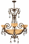 Fredrick Ramond 44100FRM Barcelona Small 6-light Traditional Pendant Chandelier