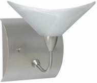 Hopi Glass Wall Sconce in Satin Nickel