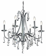 Kichler 42545CH Leanora Traditional 6-light Crystal Chandelier