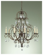 Feiss F23038MBZ Chateau Traditional 8-light Chandelier