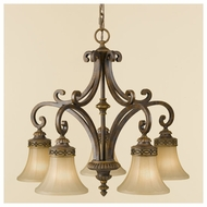 Feiss F23975WAL Drawing Room Traditional 5-light Chandelier