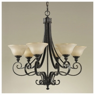 Feiss for Less F21876LBR Cervantes Traditional 6-light Chandelier