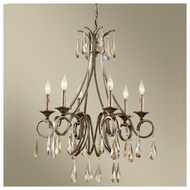 Feiss for Less F26366GIS Reina 6-light Traditional Chandelier Light